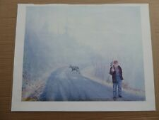 Deer Hunting Print; Deer Sneaking Behind Hunter; 20X16