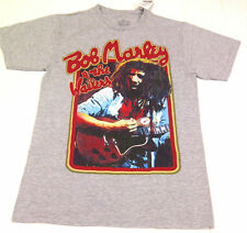 Men's Bob Marley T-Shirt Graphic Gray Retro Music MEDIUM