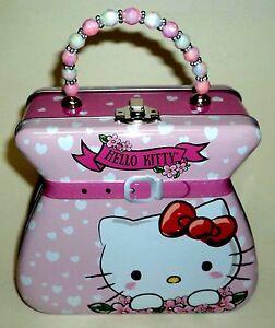 """Mädchen-accessoires Hello Kitty Von Sanrio Dose Geldbörse Mit Wulstig Griff 9 """" Hoch Inkl Griff Neu Erfrischend Und Wohltuend FüR Die Augen"""