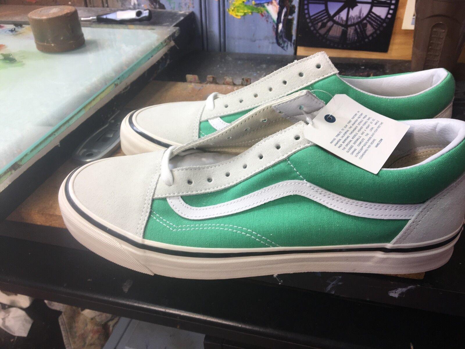 Vans Old Factory) Skool 36 DX (Anaheim Factory) Old verde/bianca Size US 12 Uomo VN0A38G2R1X 084727
