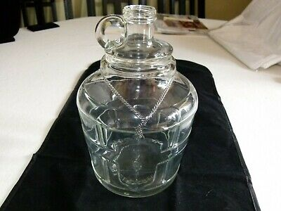 Vintage Bright's Est'd 1874 No 51 Glass Wine Or Whiskey Jug 1 1/2 Gallons Selected Material Glass
