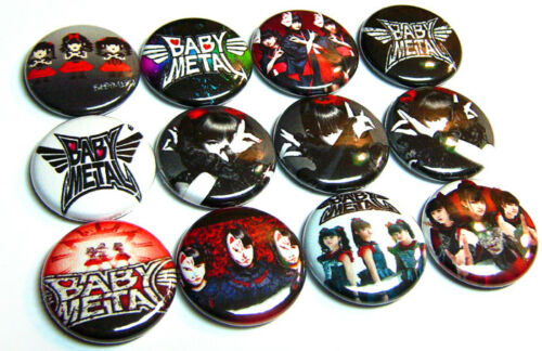 "12 BABYMETAL Pinbacks 1/"" Pins Badges One Inch Buttons Japan KAWAII J-POP BABY"