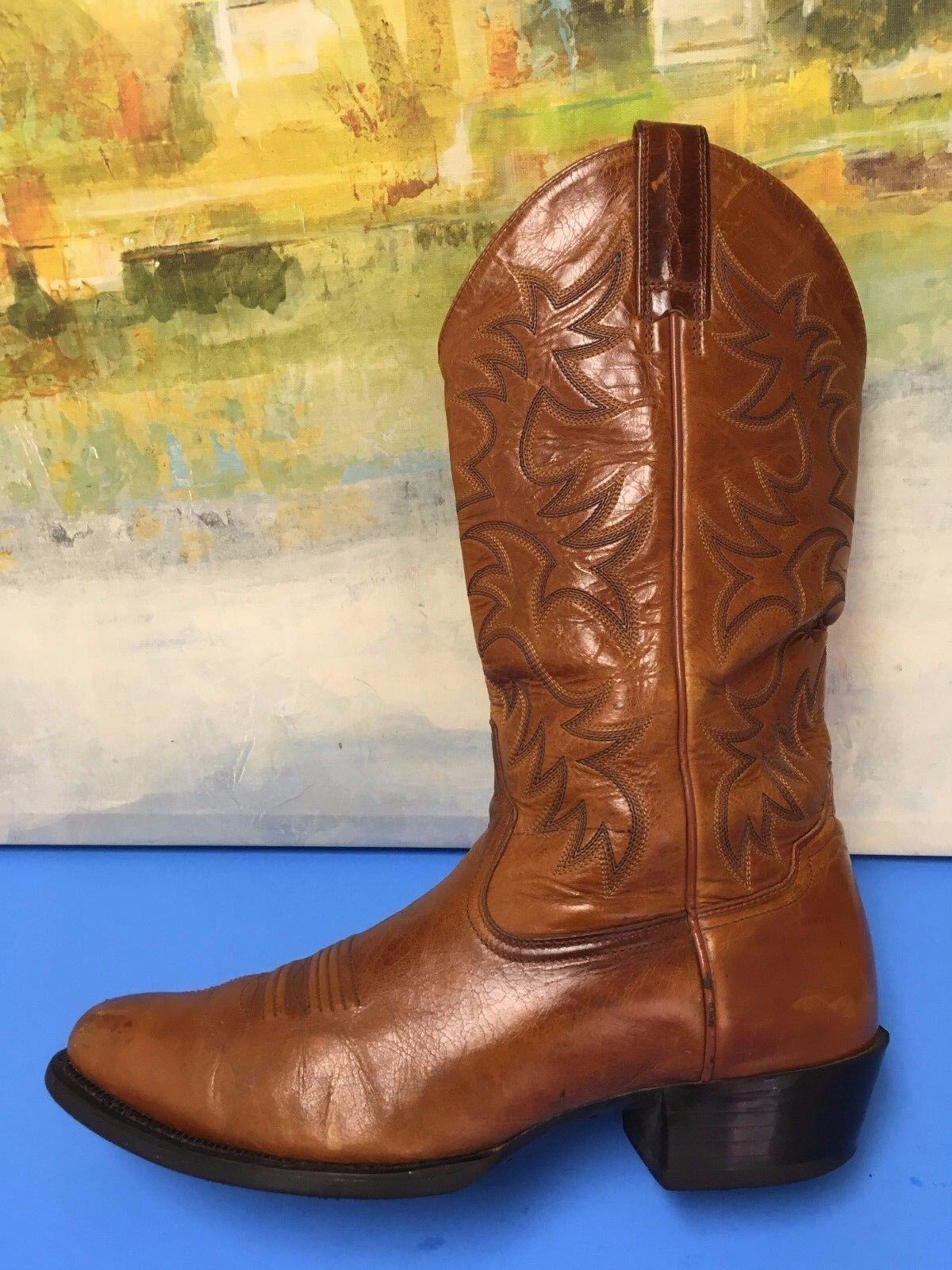 ARIAT  Herren Leder Western Cowboy Stiefel Braun Patterned Style  34740 Größe 10.5D