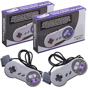 Two-2-New-16-Bit-Controller-for-Super-Nintendo-SNES-System-Console-Control-Pad