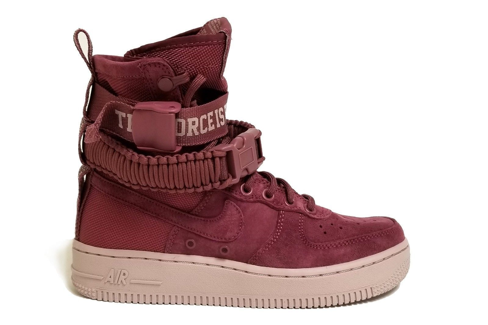 {AJ1700-600} WOMEN'S NIKE SF AIR FORCE 1 MID SHOE VINTAGE WINE NEW