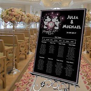 Personalised wedding table seating plan minnie mickeydisney 4 image is loading personalised wedding table seating plan minnie amp mickey solutioingenieria Choice Image