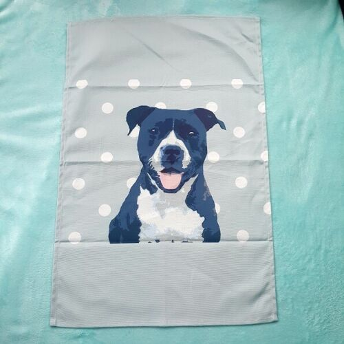 LOVELY QUALITY ITEM-UK SELLER-FAST DESPATCH STAFFIE TEA TOWEL BY BETTY BOYNS