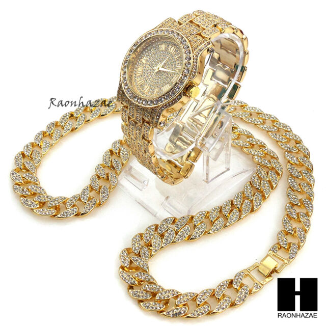 Hip Hop Iced out Techno Pave Watch   30