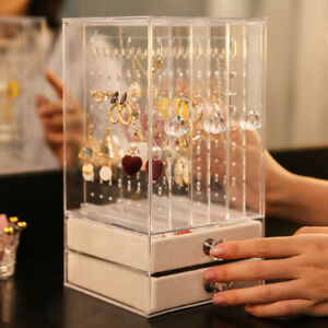 Jewelry-Display-Stand-Acrylic-Rings-Necklace-Drawer-Case-Earring-Rack-Storage