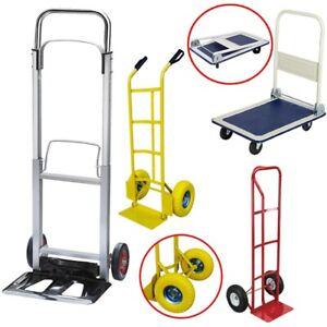 Hand-Truck-Heavy-Duty-Sack-Industrial-Trolley-Pneumatic-Tyres-Wheels-Torlleys-UK