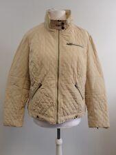 ELLOS glossy padded jacket plain light Beige Ladies UK Size 26 RRP £55 Box1213 p