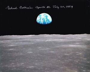 Apollo 11 Armstrong Collins Aldrin Autographed Repro Photo 8X10 Moon NASA