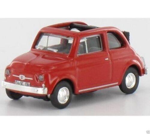 Schuco 25853 Fiat 500 rot OVP Maßstab 1:87