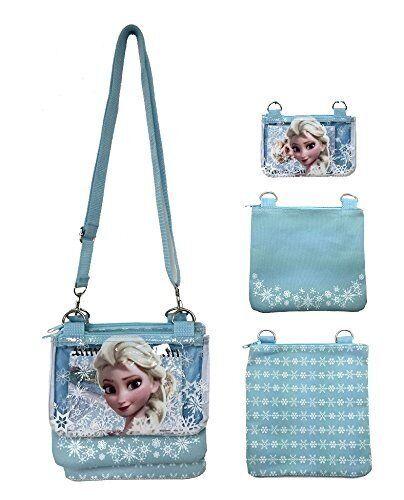 Disney Frozen Elsa Blue Adjustable Strap Messenger Shoulder Cross Purse Bag