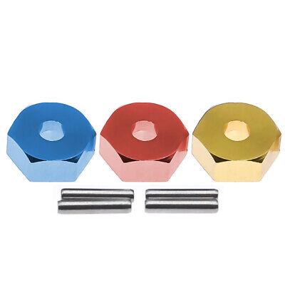 5MM Aluminum Alloy Wheel Hex Mount Hubs Nut RC Car Wheel Hex Mount Hubs with Pins Fit for WLtoys 1//14 144001 Blue1266B Hubs Nut