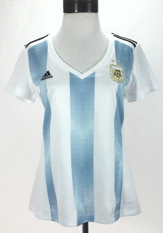 ADIDAS silverina Jersey AFA bluee White Soccer Futbol Shirt BQ9302 Women's M New