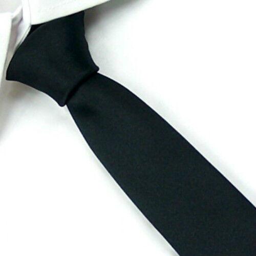 D.berite Black Wedding Groom Party Solid Men's Skinny Silk Tie Slim Necktie SK09