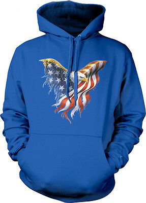 American Flag Bald Eagle USA Patriotic Freedom Pride Hoodie Pullover Sweatshirt