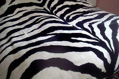 Industrioso Copriletto Coperta Zebra Matrimoniale Zebrata Mucca Rug