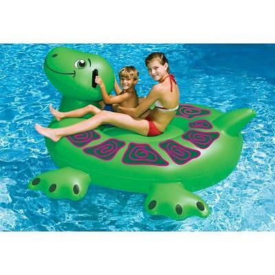 NEW Swimline Inflatable Sea Turtle 90622 Pool Water Kids Rideable Float Toys