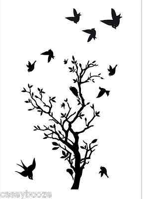 Clear Rubber Stamps - Tree With Birds - 1115 - New Release