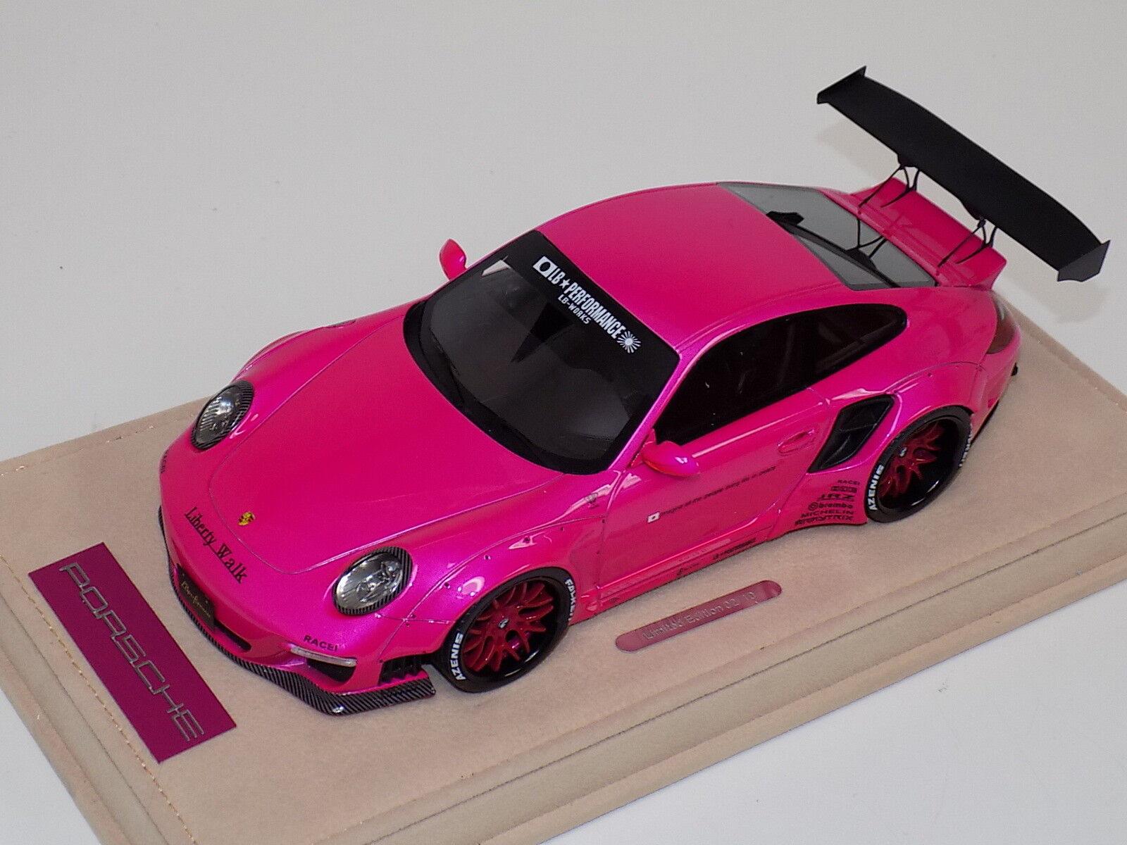 salida de fábrica ab modelos Porsche  Liberty Liberty Liberty Walk lb rendimiento Flash calcomanías de Rosa 05F  mas barato