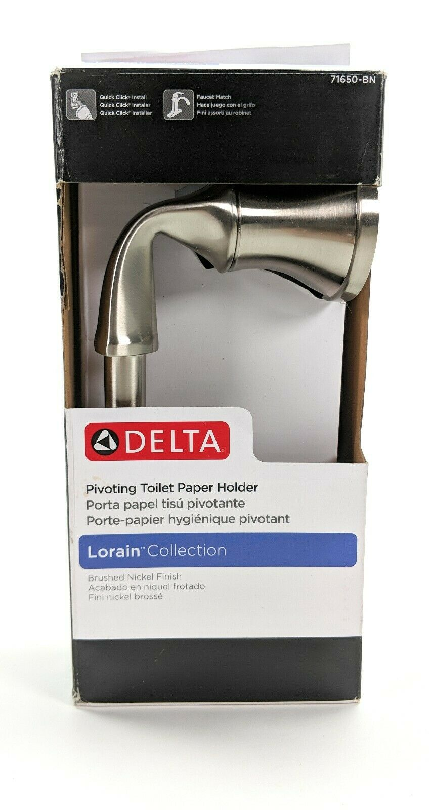 Delta 71650BN Lorain Bath Toilet Paper Holder Brushed Nickel Finish