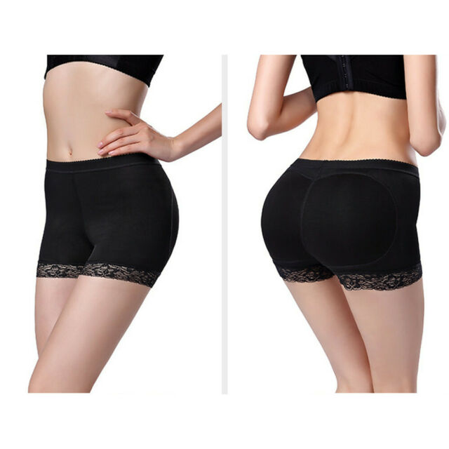 Silicone Buttocks Pads Padded Pants Bum Butt Hip Knickers Fake Size Enhancer NEW