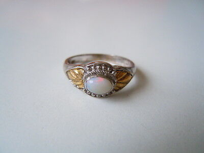 Fine Jewelry Jewelry & Watches Ring Aus 925 Sterling Silber Seitlich 9k Gold Markasiten & Edelopal Gr 52/3,2 G Wide Varieties