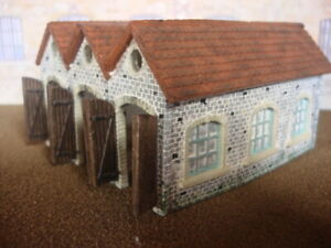 N-Gauge-Engine-shed-amp-Roof-2-mould-KIT-NK01-Real-stone-buildings-in-N-Scale
