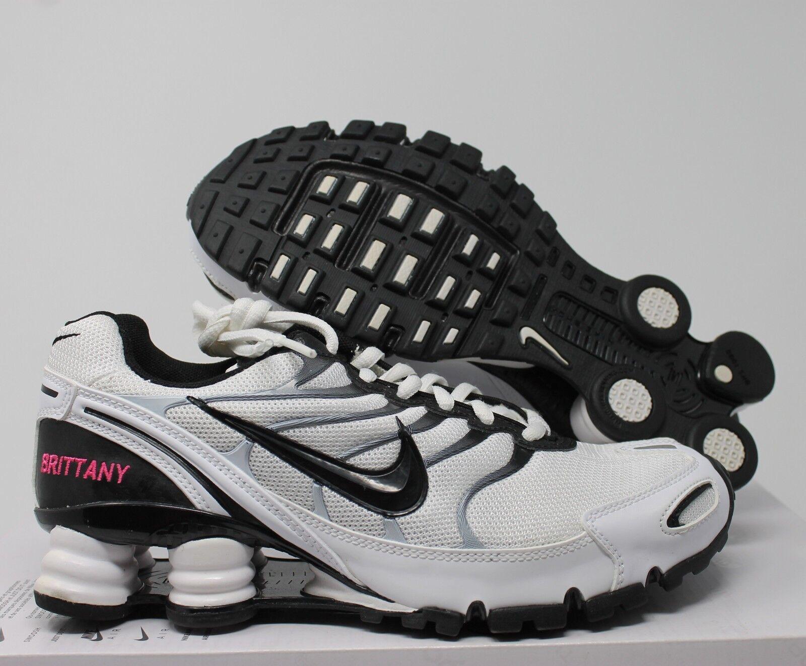Nike Women's  Shox Turbo+ VI iD White-Black SZ 6.5 [326907-992]