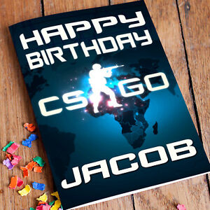 Image Is Loading COUNTER STRIKE Personalised Birthday Card FREE Shipping Premium