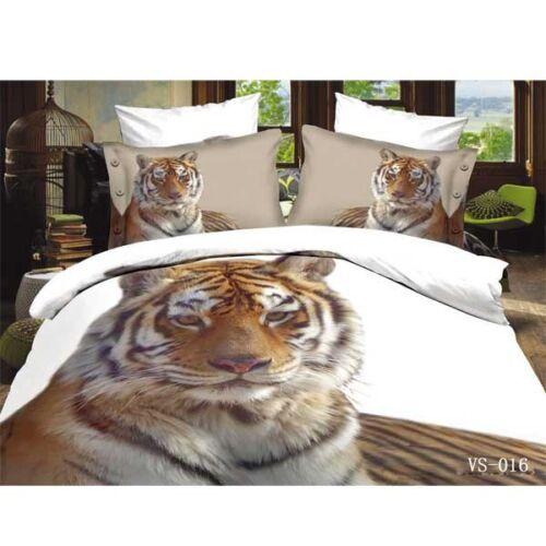 TRUYOO 3D Effect Bedding Set Duvet Cover 100/% Satin Cotton Animal