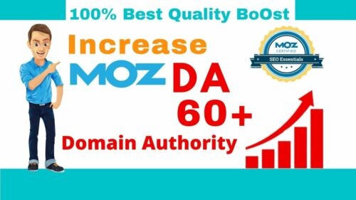 Google SEO Increase Domain Authority MOZ DA 50-60 with High Authority Backlinks