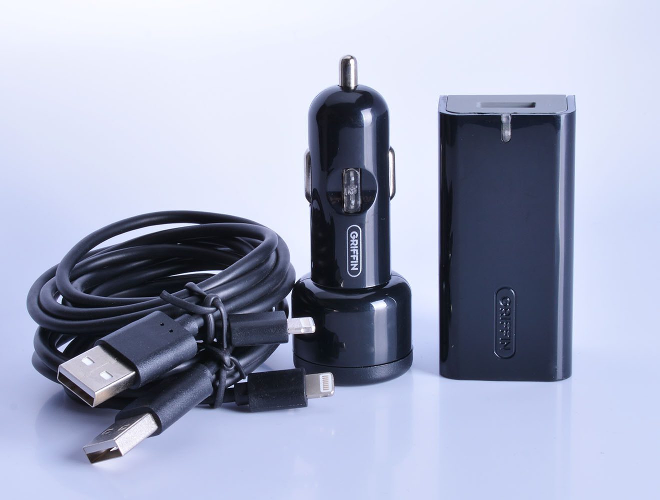 griffin powerblock home adapter car charger w 2x lighting. Black Bedroom Furniture Sets. Home Design Ideas