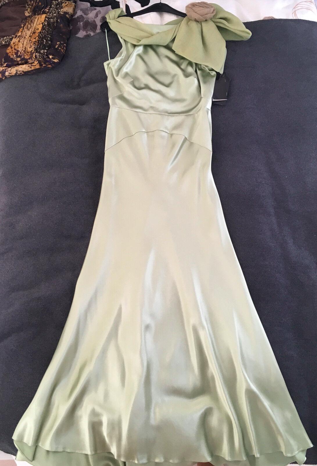 ESCADA  evening   ball gown - green silk - NWT - sz 38