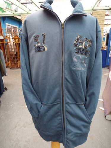 Kam Blu Sherpa Cerniera Intera Giacca 2xl3xl4xl5xl6xl7xl8xl