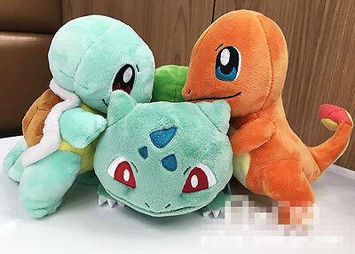 New Sanei Pokemon Go Bulbasaur Charmander Squirtle Plush Toy Gift 3PCS