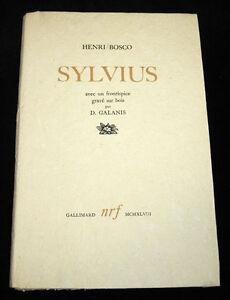 Erotica. Curiosa. Henri Bosco: Sylvius. Incisioni di Galanis, 1948  Es. numerato