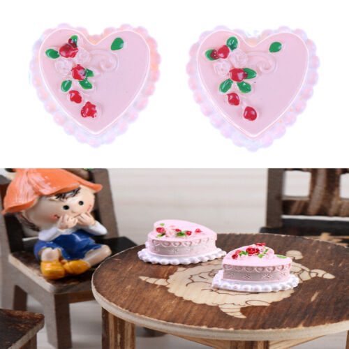 Miniature Dollhouse Doll Heart Cake Garden Craft Fairy Bonsai Decor Toy CA SP
