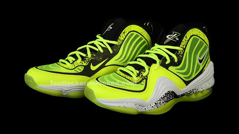 Nike Air Penny V 5 HL Volt Black White Tennis Ball Highlighter Cement Men 8 shoes