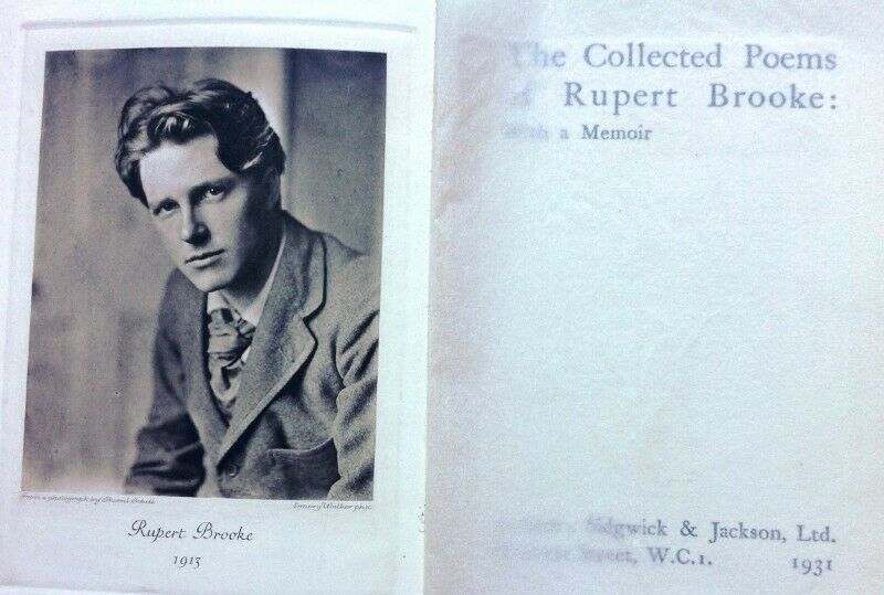 Collected Poems Of Rupert Brooke With A Memoir Hardcover