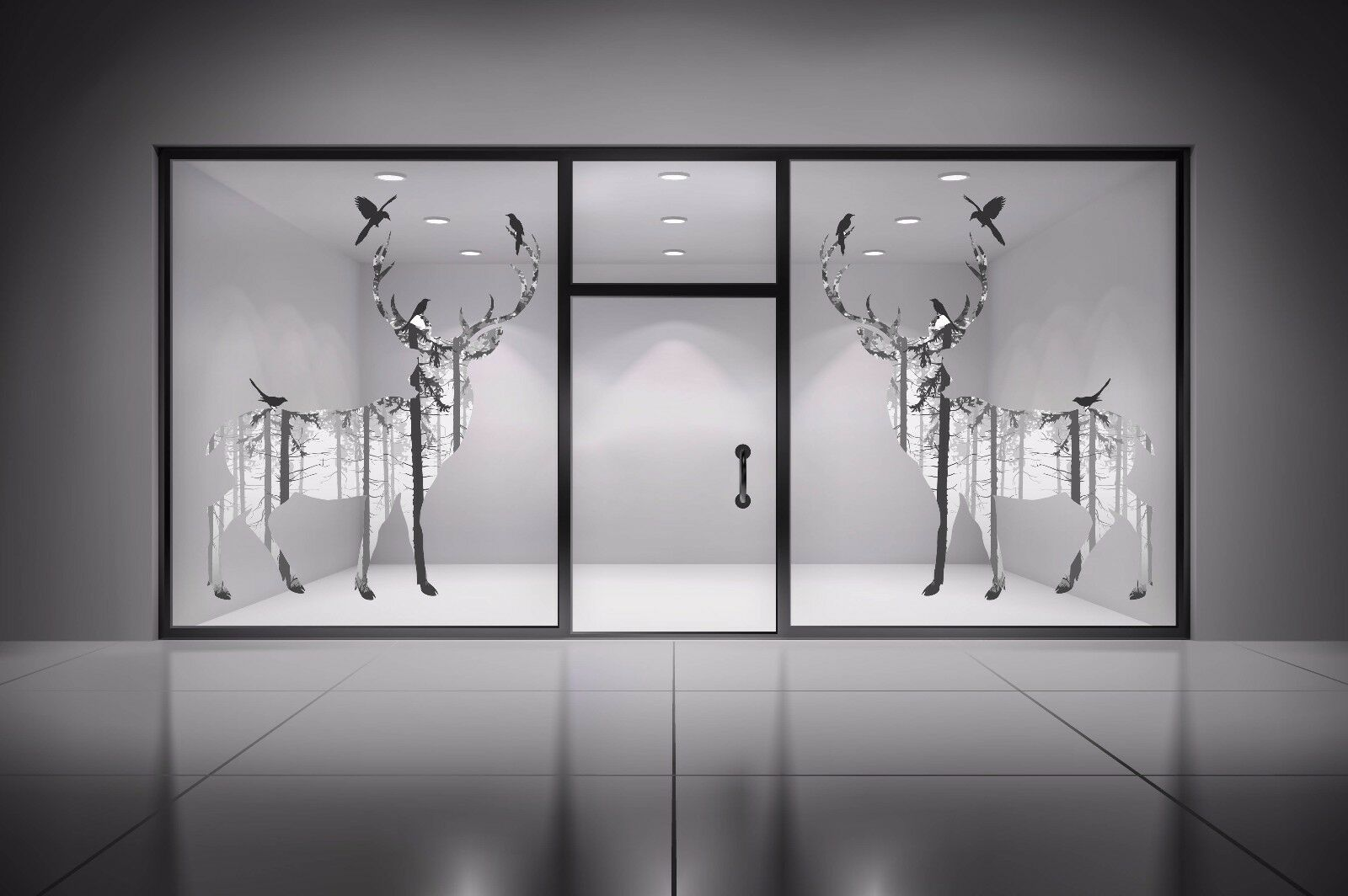 3D Sketch Deer 506 Wallpaper Murals Wall Print Wall Mural AJ WALL AU Summer