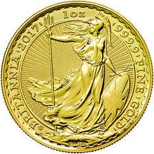 2017 1 oz 30th Anniversary British Gold Britannia Coin (BU)