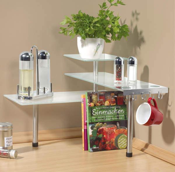 Eck hängeregal küche  Westfalia Küchen Eck - Regal Glas | eBay