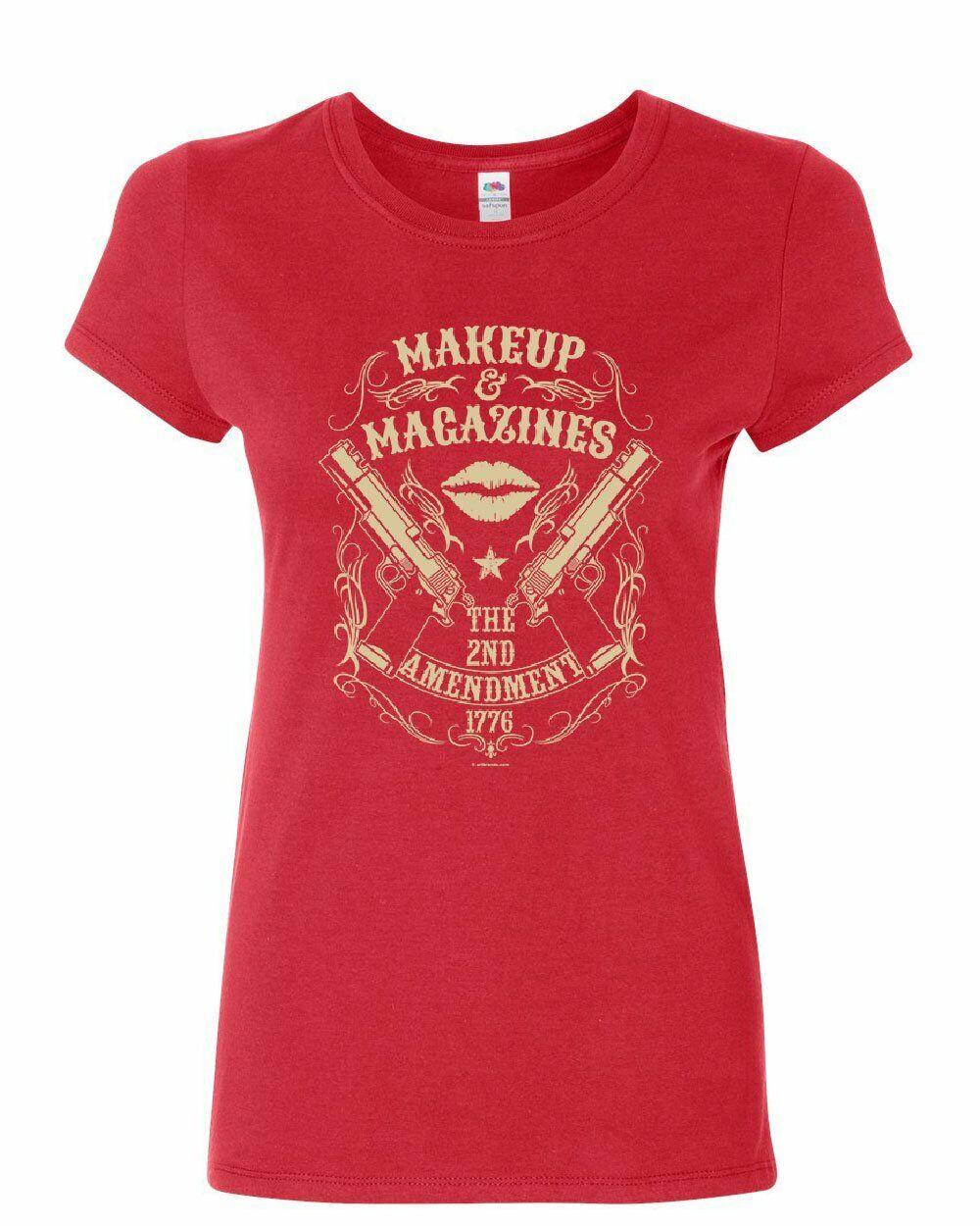 Make Up /& Magazines The 2nd Amendment 1776 Women/'s Long Sleeve Tee Gun Rights