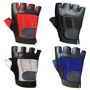 305 WEIGHT LIFTING PADDED LEATHER GLOVES TRAINING FITNESS BODY BUILDING GYM