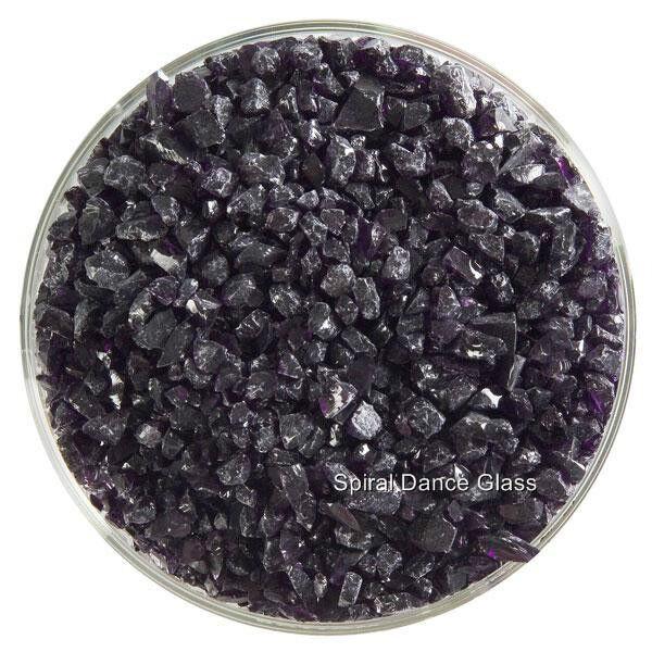 Bullseye COE 90 Kiln Fusing Glass Frit~  2oz Deep Royal Purple Transparent (128)