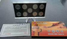 China 1 cent coin, 2005 - 2013, 9pcs different year in presentation folder (UNC)