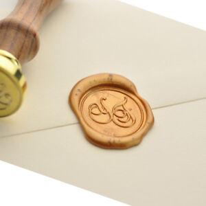 Personalized Initials Wax Seal Stamp Custom Wedding Invitation Sealing Wax 004